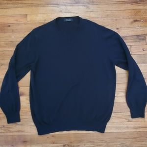 Mens zara xl black crewneck sweater
